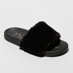 Phoebe Faux Fur Slide Sandals
